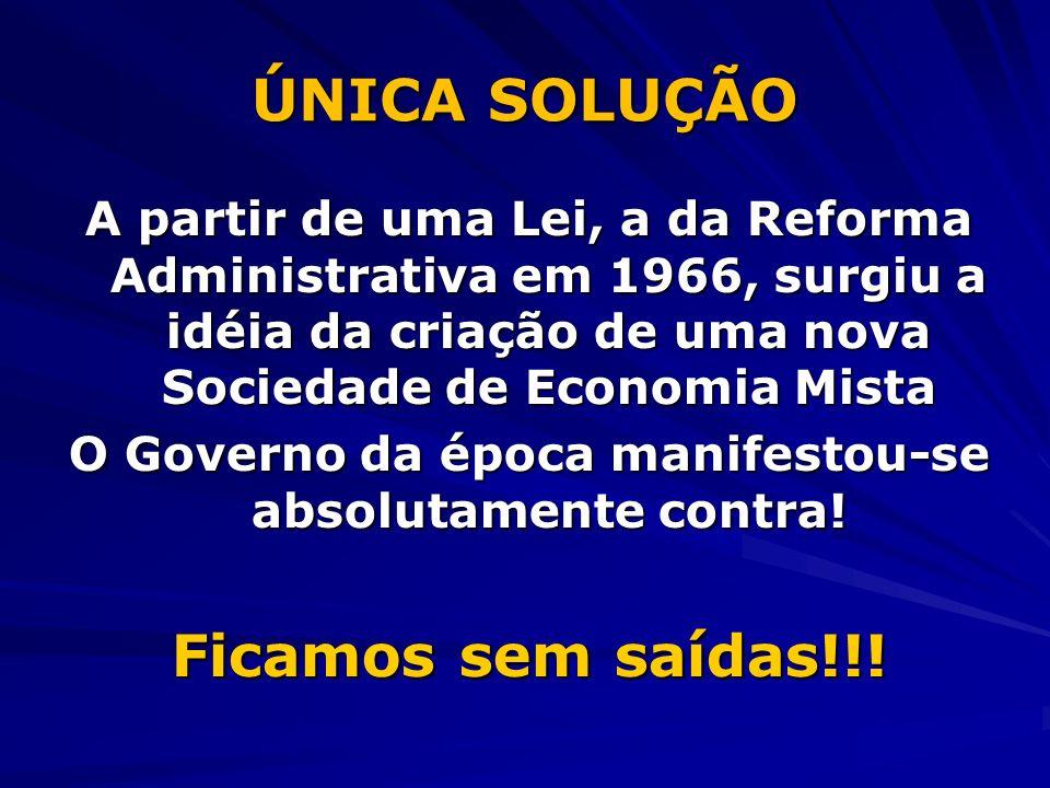 O Governo da época manifestou-se absolutamente contra!