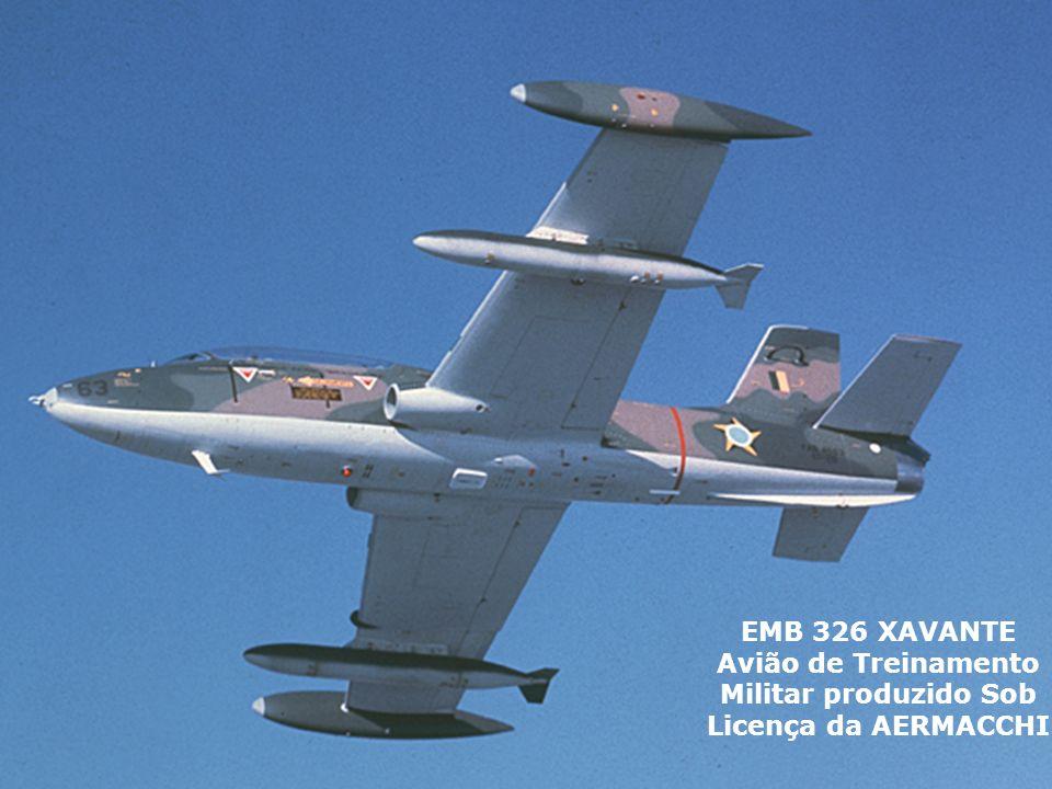 EMB 326 XAVANTE Avião de Treinamento Militar produzido Sob Licença da AERMACCHI