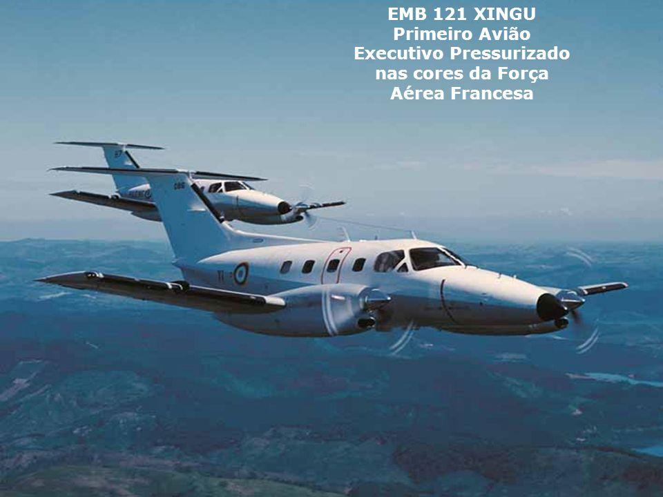 EMB 121 XINGU Primeiro Avião Executivo Pressurizado nas cores da Força Aérea Francesa