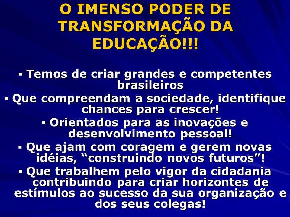 O IMENSO PODER DE TRANSFORMAÇÃO DA EDUCAÇÃO!!!