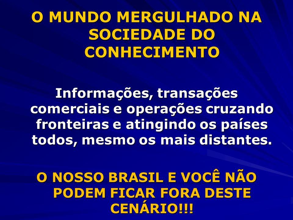 O MUNDO MERGULHADO NA SOCIEDADE DO CONHECIMENTO