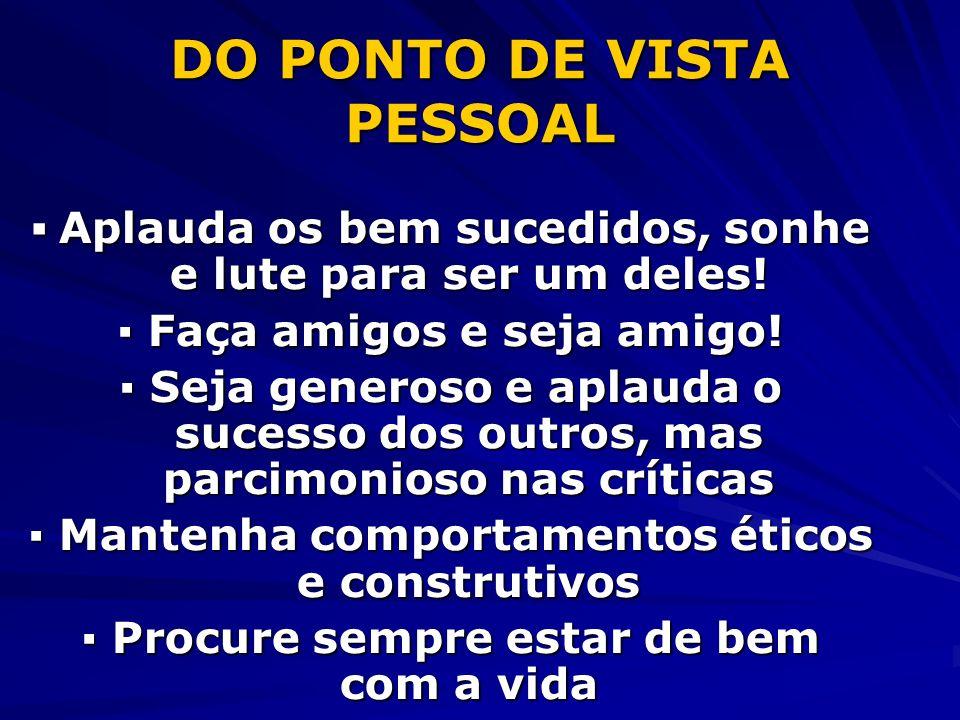 DO PONTO DE VISTA PESSOAL