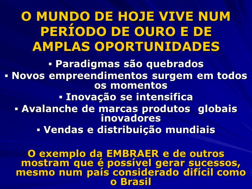 O MUNDO DE HOJE VIVE NUM PERÍODO DE OURO E DE AMPLAS OPORTUNIDADES