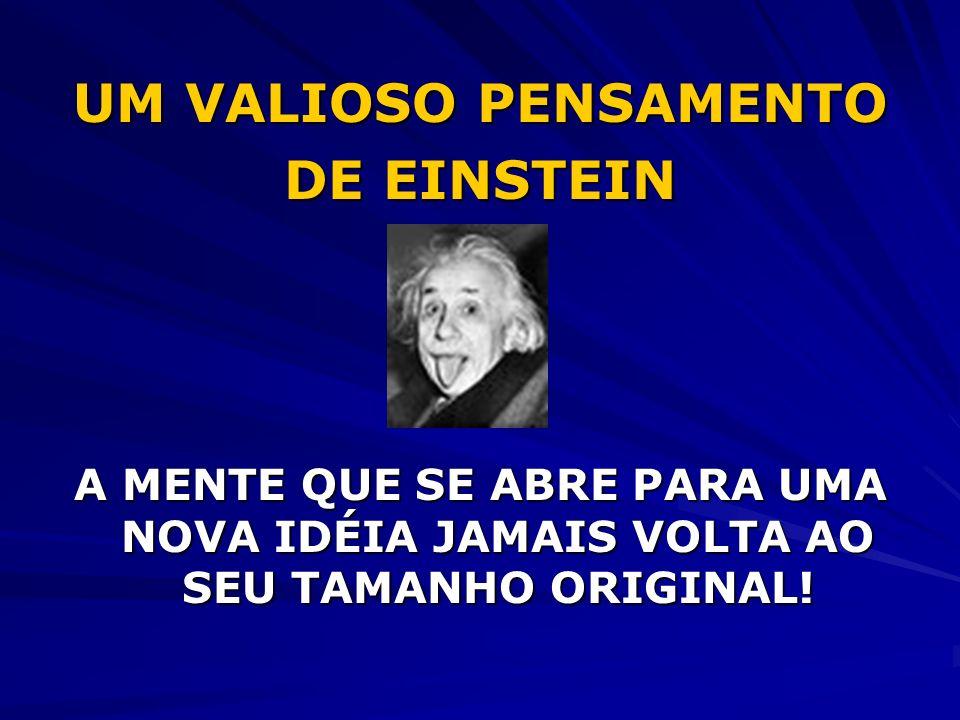 UM VALIOSO PENSAMENTO DE EINSTEIN