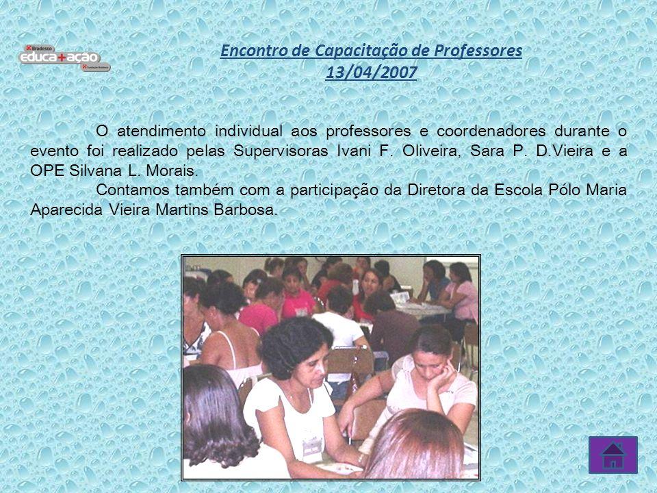 Encontro de Capacitação de Professores 13/04/2007