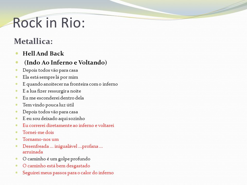 Rock in Rio: Metallica: Hell And Back (Indo Ao Inferno e Voltando)