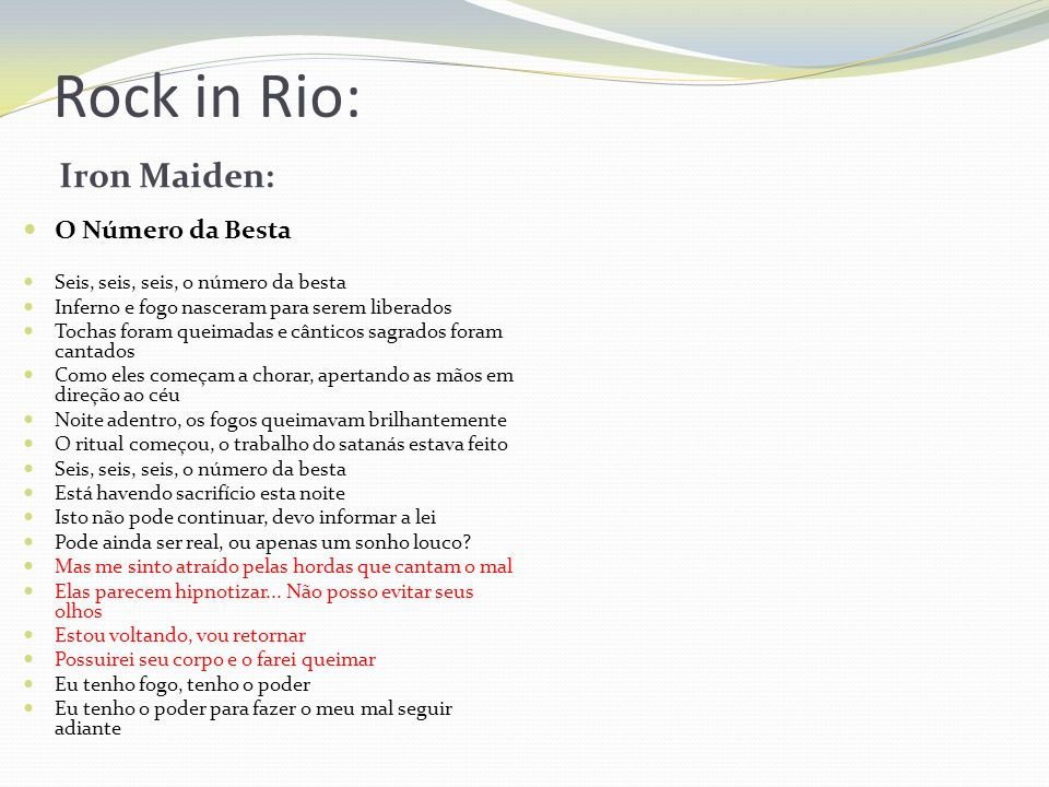 Rock in Rio: Iron Maiden: O Número da Besta