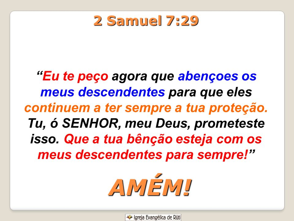 2 Samuel 7:29