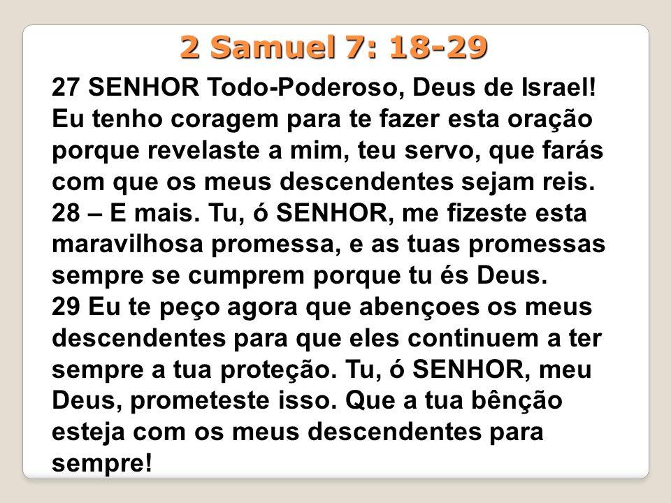 2 Samuel 7: 18-29