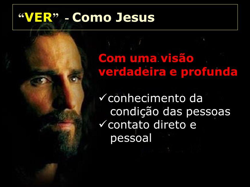 VER - Como Jesus Com uma visão verdadeira e profunda conhecimento da