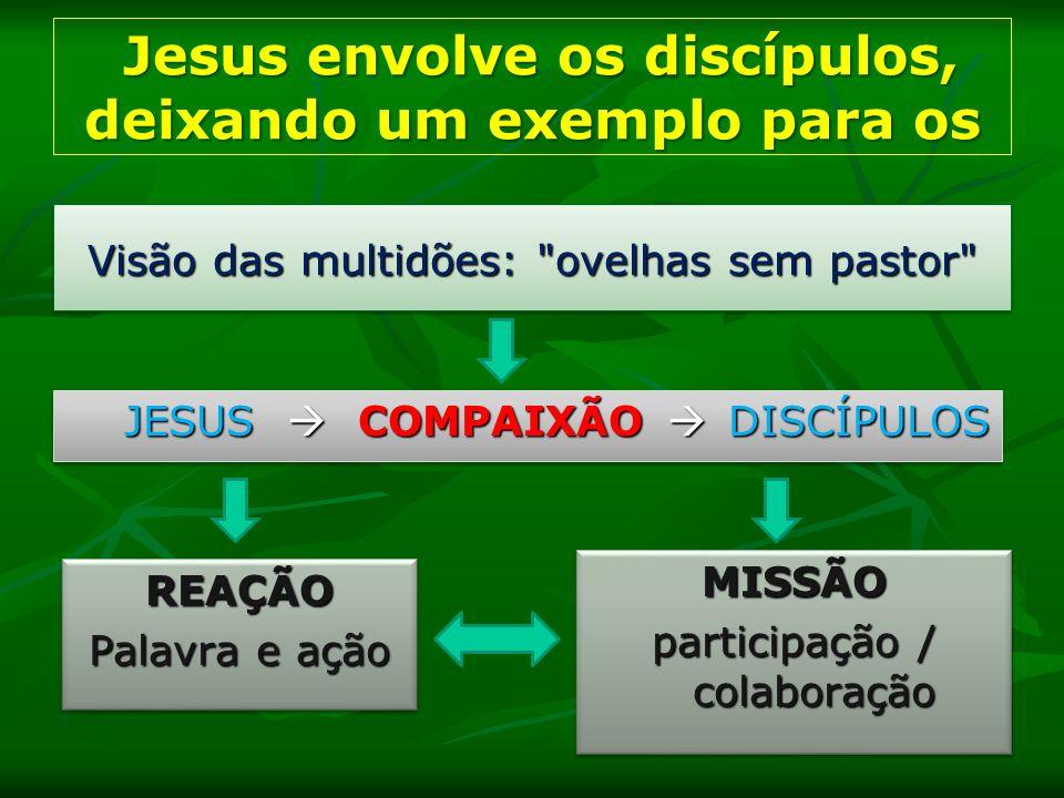 Jesus envolve os discípulos, deixando um exemplo para os