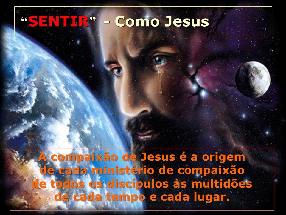 SENTIR - Como Jesus A compaixão de Jesus é a origem