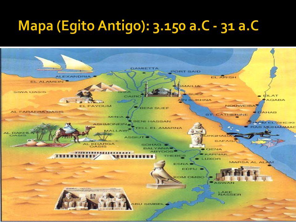 Mapa (Egito Antigo): 3.150 a.C - 31 a.C