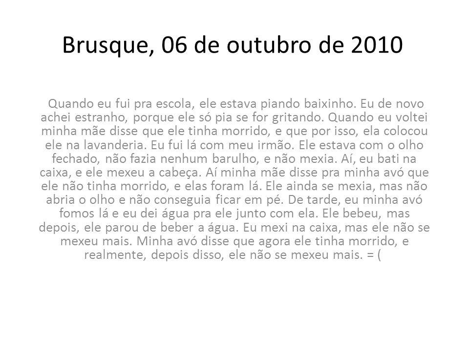 Brusque, 06 de outubro de 2010