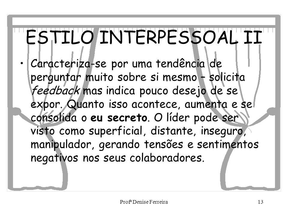 ESTILO INTERPESSOAL II