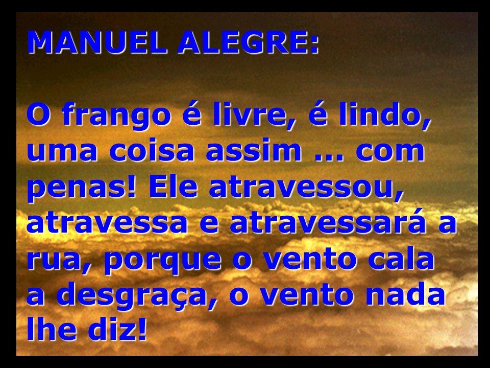 MANUEL ALEGRE:
