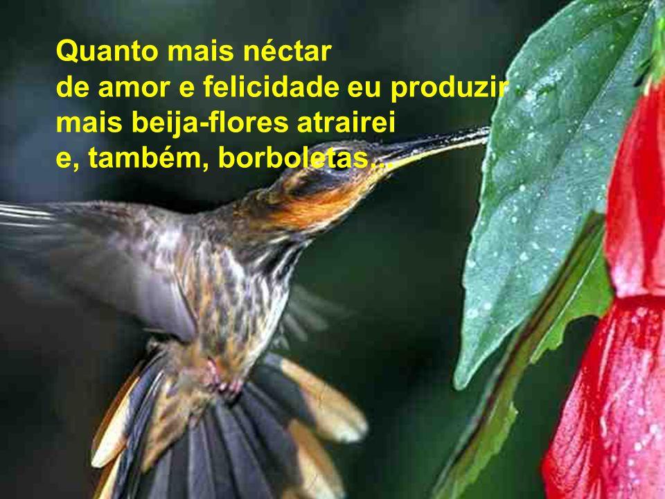 Quanto mais néctar de amor e felicidade eu produzir.