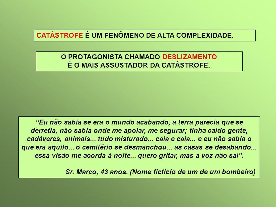 O PROTAGONISTA CHAMADO DESLIZAMENTO É O MAIS ASSUSTADOR DA CATÁSTROFE.