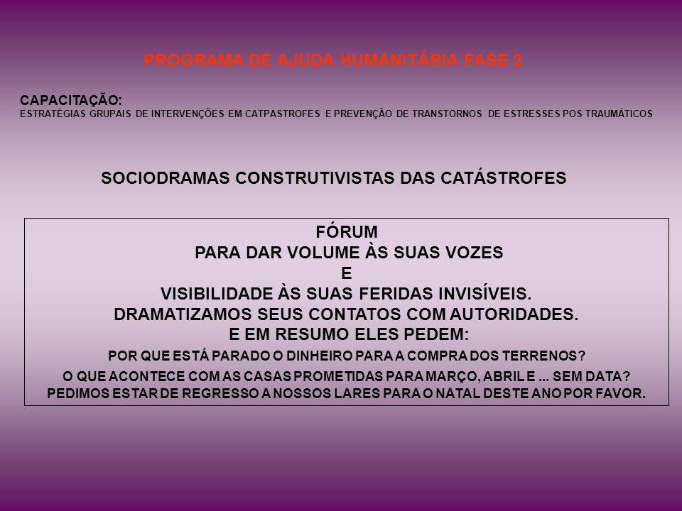 PROGRAMA DE AJUDA HUMANITÁRIA FASE 2