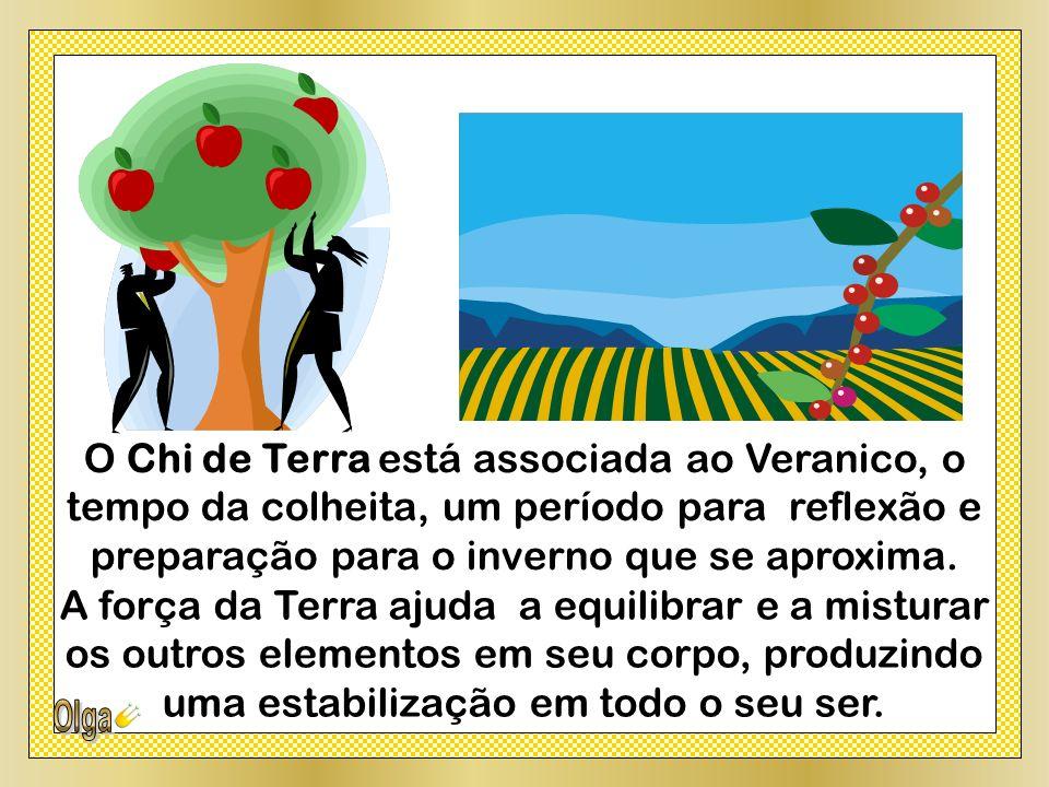O Chi de Terra está associada ao Veranico, o tempo da colheita, um período para reflexão e preparação para o inverno que se aproxima.