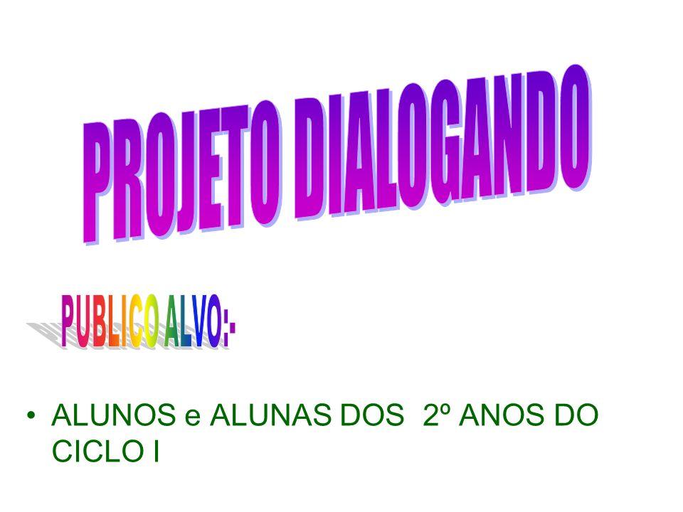 PROJETO DIALOGANDO ALUNOS e ALUNAS DOS 2º ANOS DO CICLO I