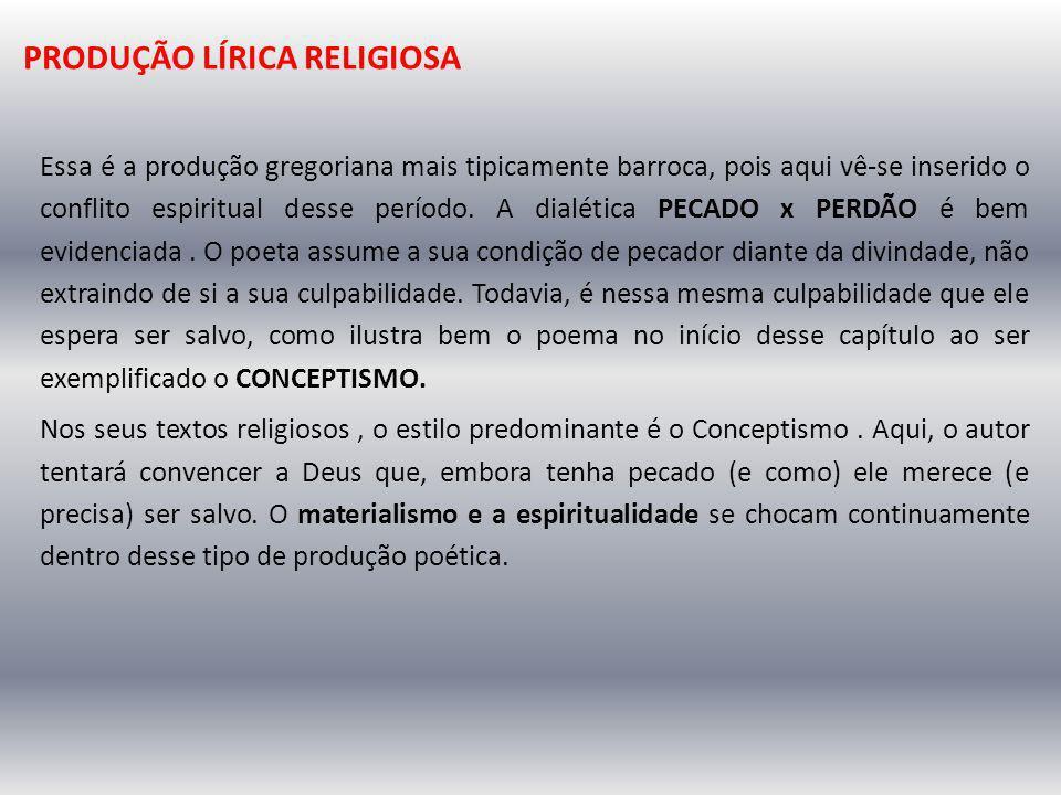 PRODUÇÃO LÍRICA RELIGIOSA