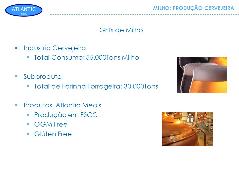 Total Consumo: 55.000Tons Milho Subproduto