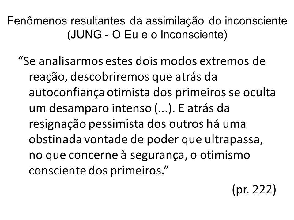 Fenômenos resultantes da assimilação do inconsciente (JUNG - O Eu e o Inconsciente)