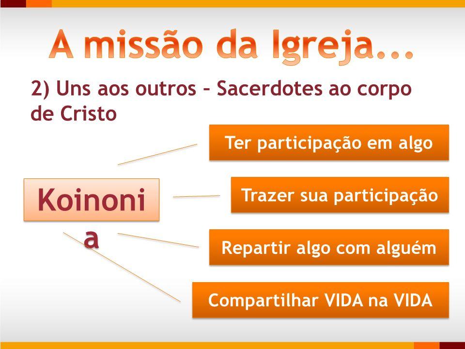 A missão da Igreja... Koinonia