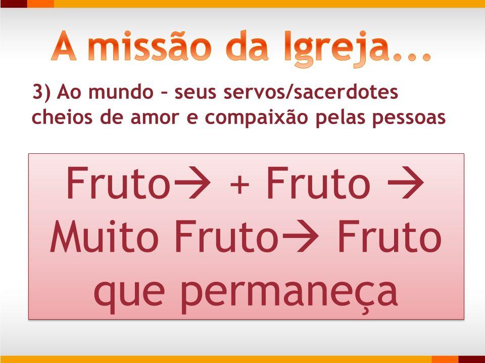 Fruto + Fruto  Muito Fruto Fruto que permaneça