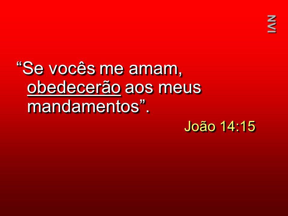 Se vocês me amam, obedecerão aos meus mandamentos .