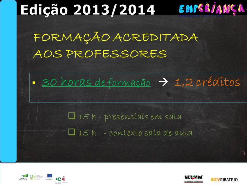 Edição 2013/2014 FORMAÇÃO ACREDITADA AOS PROFESSORES