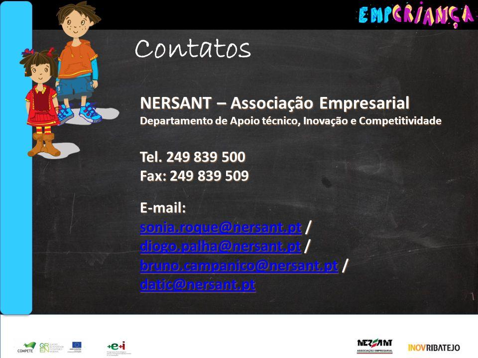 Contatos NERSANT – Associação Empresarial Tel. 249 839 500