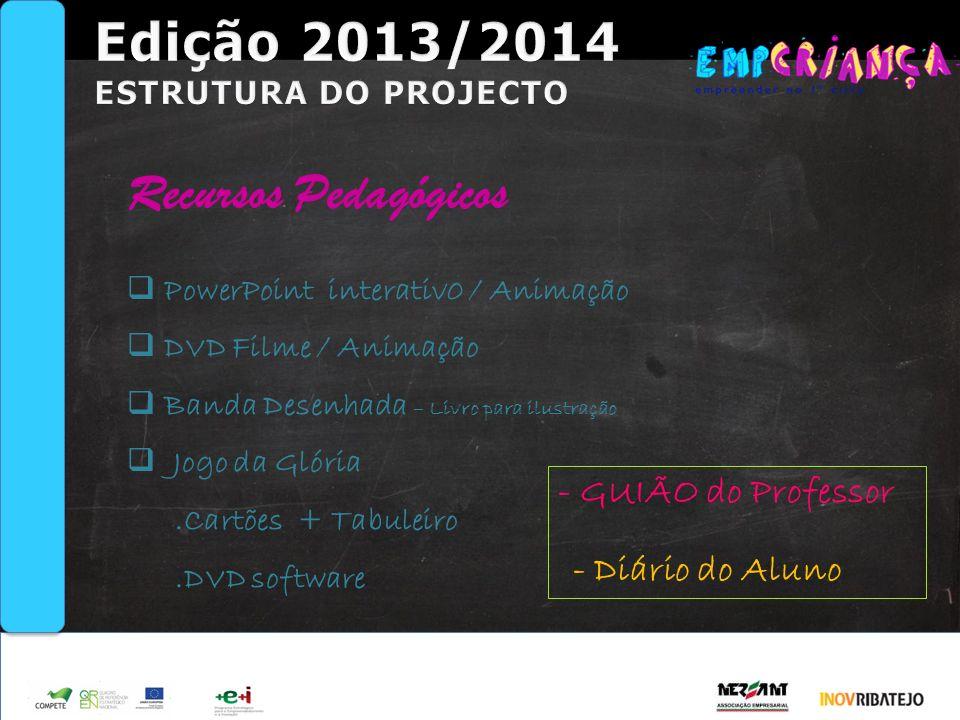 Edição 2013/2014 Recursos Pedagógicos - GUIÃO do Professor