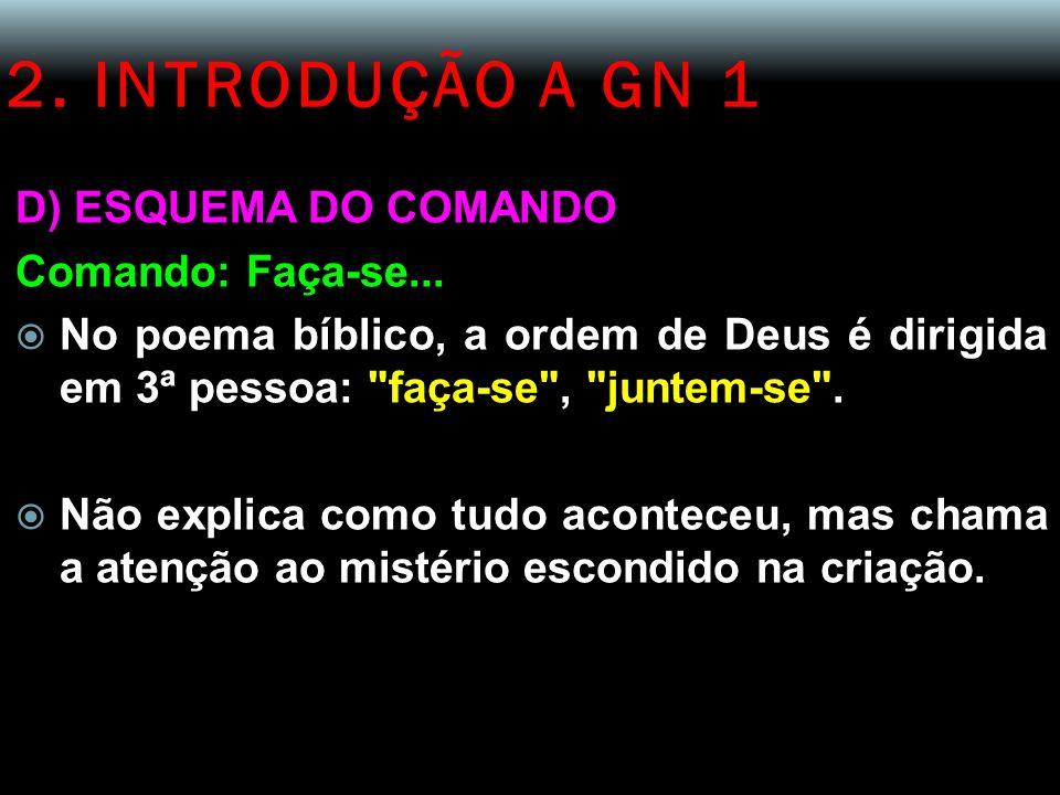 2. INTRODUÇÃO A GN 1 D) ESQUEMA DO COMANDO Comando: Faça-se...