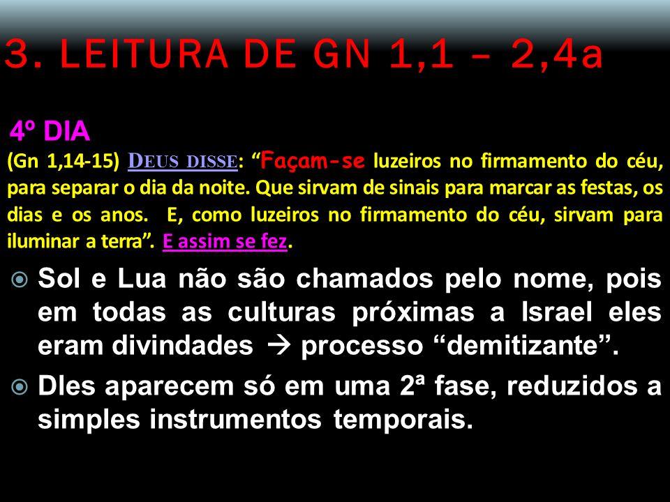 3. LEITURA DE GN 1,1 – 2,4a 4º DIA.