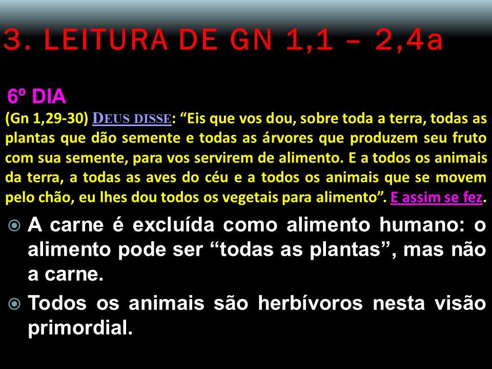 3. LEITURA DE GN 1,1 – 2,4a 6º DIA.