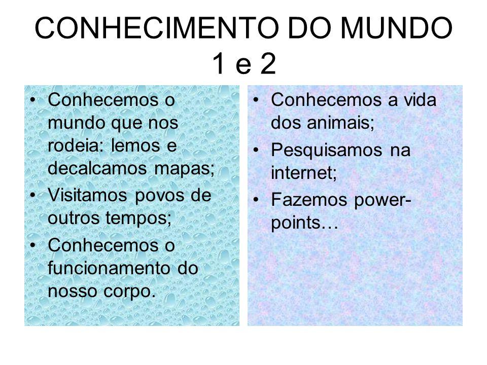 CONHECIMENTO DO MUNDO 1 e 2