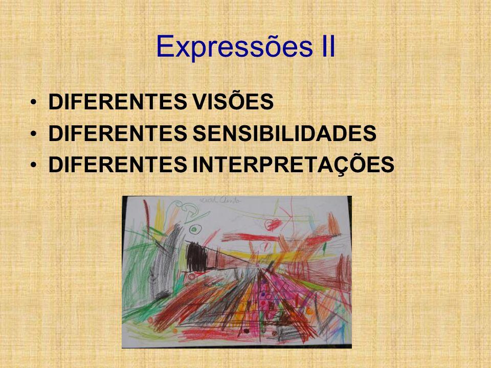 Expressões II DIFERENTES VISÕES DIFERENTES SENSIBILIDADES