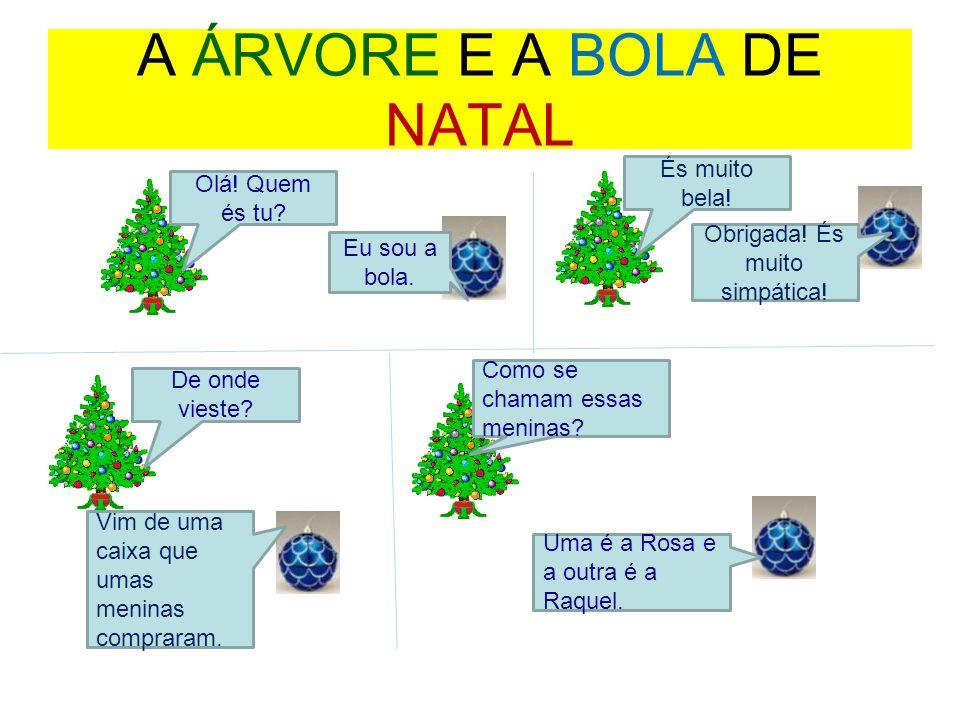 A ÁRVORE E A BOLA DE NATAL