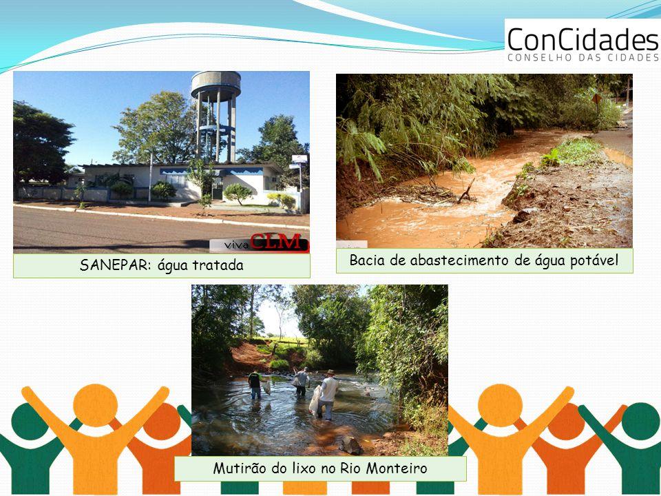 Bacia de abastecimento de água potável SANEPAR: água tratada