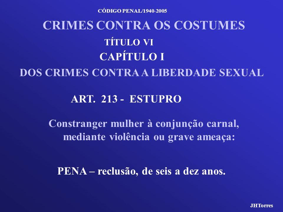 CRIMES CONTRA OS COSTUMES