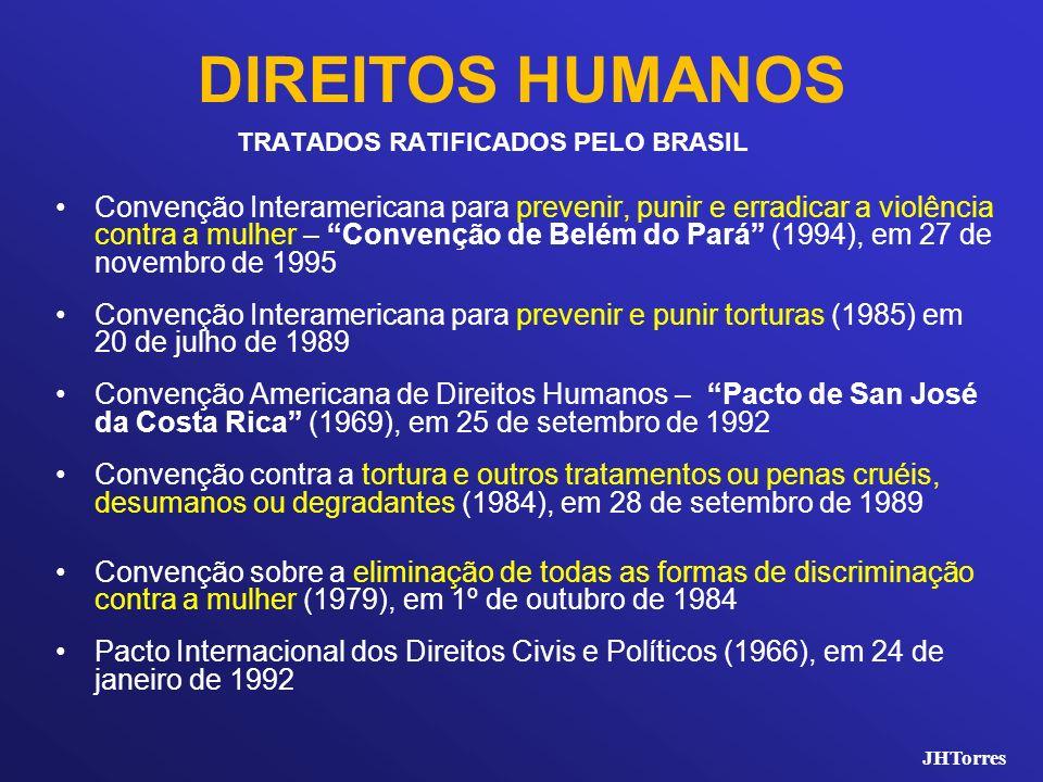 DIREITOS HUMANOS TRATADOS RATIFICADOS PELO BRASIL.