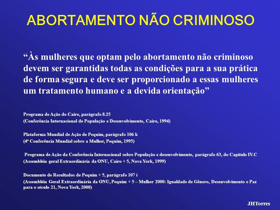 ABORTAMENTO NÃO CRIMINOSO