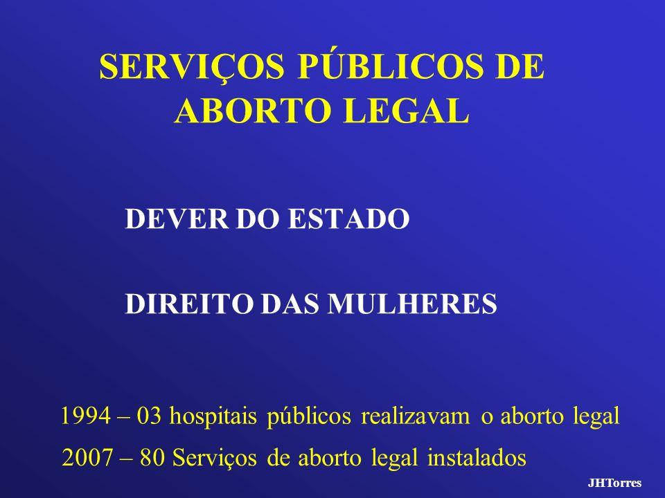 SERVIÇOS PÚBLICOS DE ABORTO LEGAL