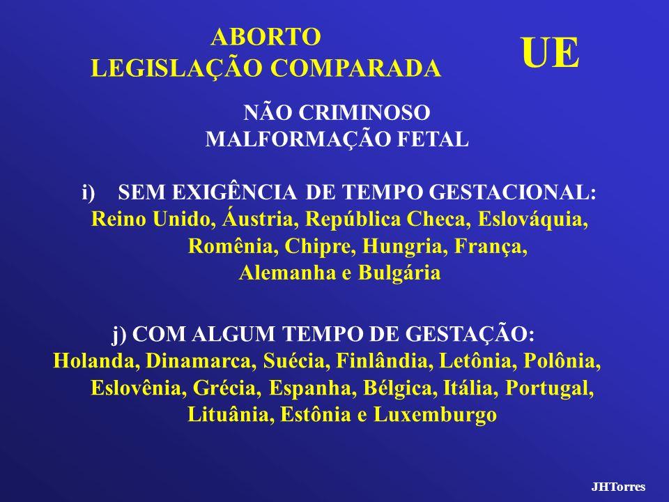 UE ABORTO LEGISLAÇÃO COMPARADA NÃO CRIMINOSO MALFORMAÇÃO FETAL