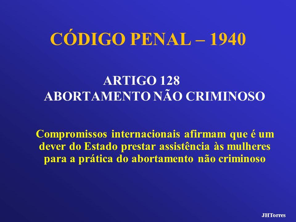 CÓDIGO PENAL – 1940 ARTIGO 128 ABORTAMENTO NÃO CRIMINOSO