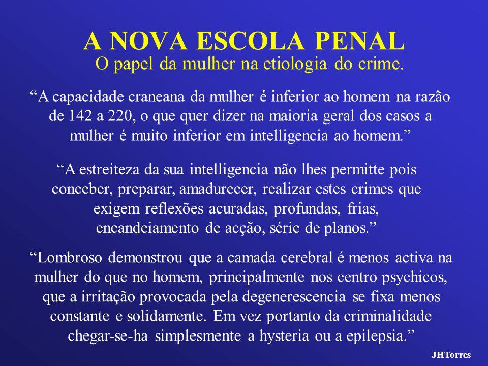 A NOVA ESCOLA PENAL O papel da mulher na etiologia do crime.