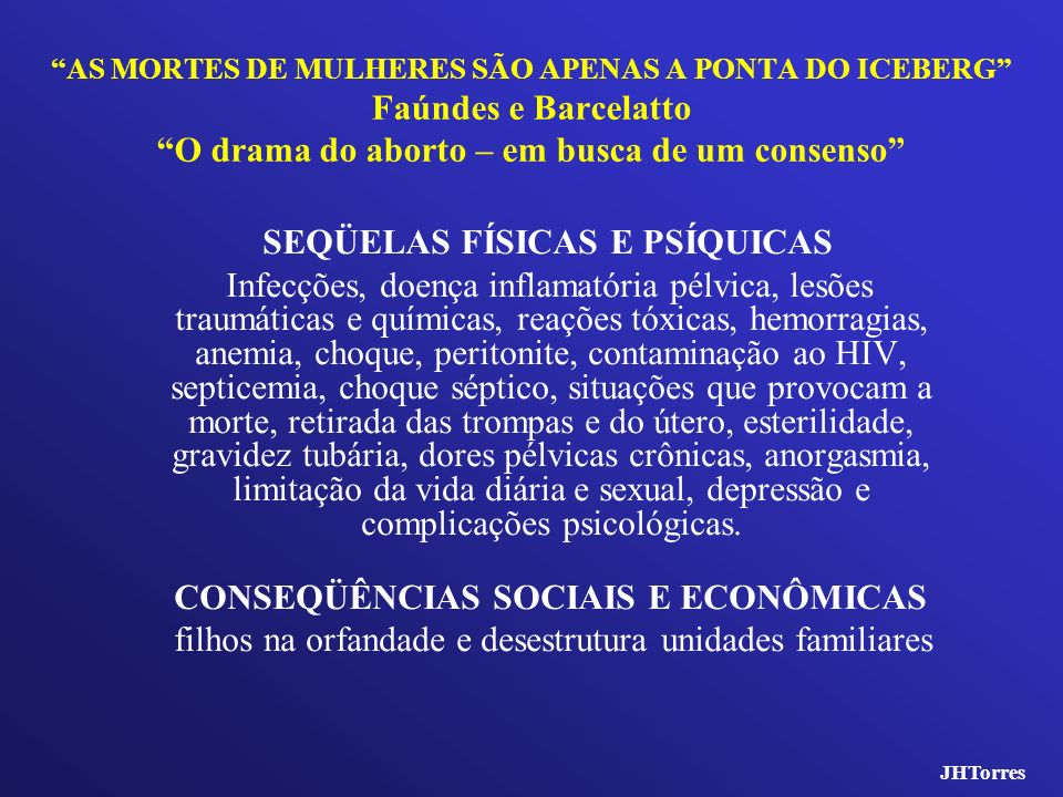 SEQÜELAS FÍSICAS E PSÍQUICAS