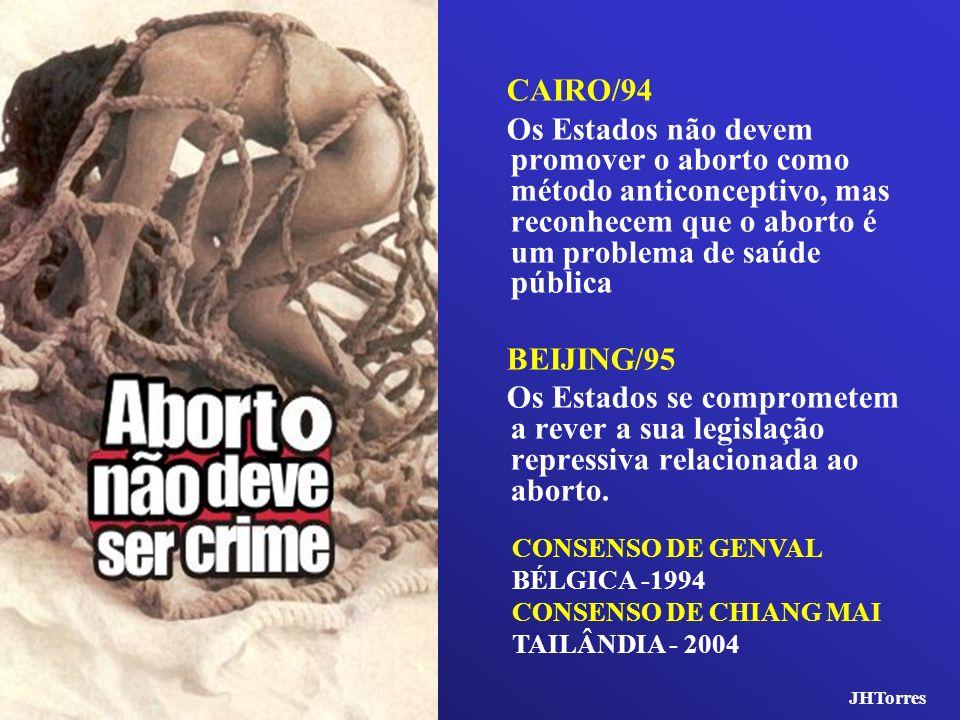 CAIRO/94 Os Estados não devem promover o aborto como método anticonceptivo, mas reconhecem que o aborto é um problema de saúde pública.